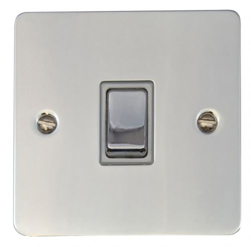 G&H FC201 Flat Plate Polished Chrome 1 Gang 1 or 2 Way Rocker Light Switch